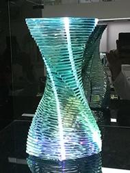 積層ガラス 楕円スパイラル+LED1